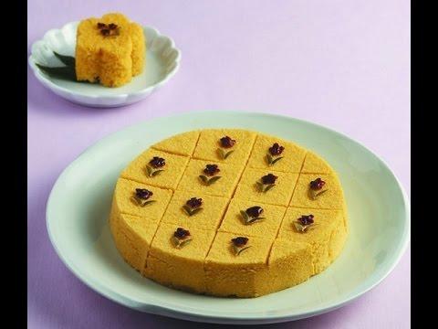 Kết quả hình ảnh cho Bánh bí ngô (호박떡 - Hobaktteok)