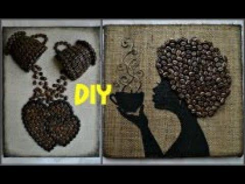 Два панно с кофейными зёрнами\Мастер-класс #DIY #кофейныепанно