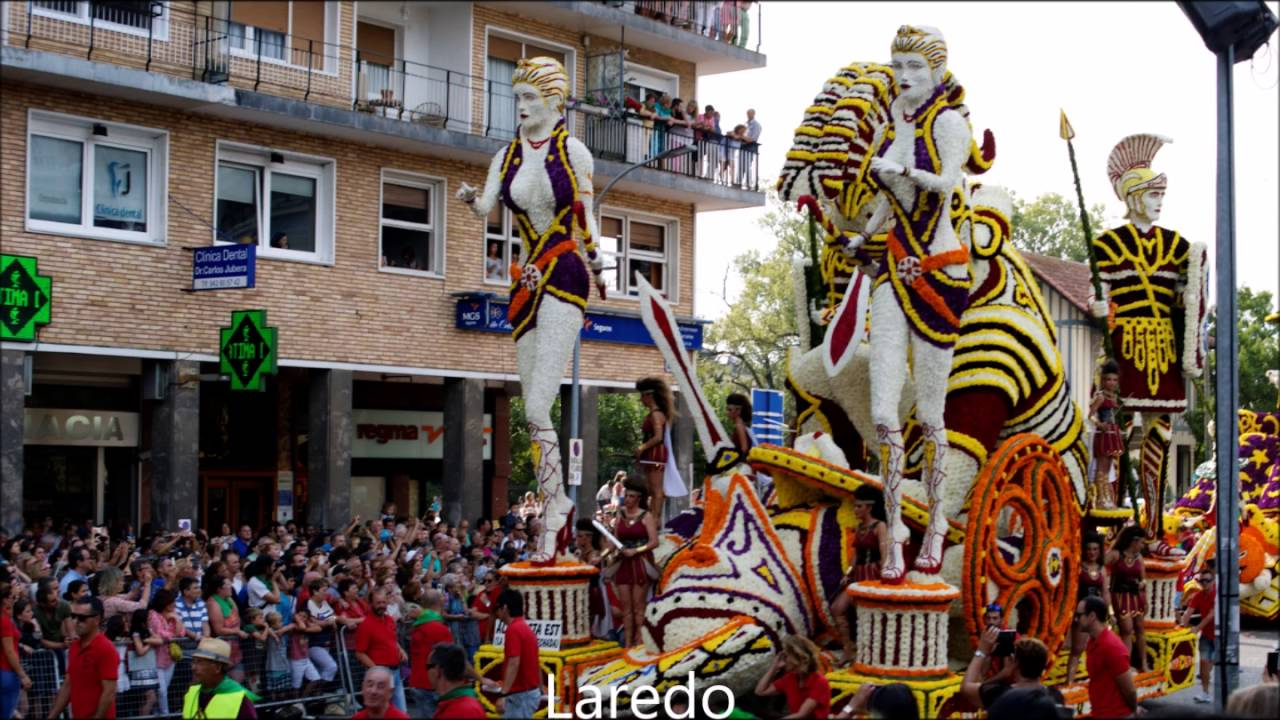 Resultado de imagen de Batalla de flores de Laredo
