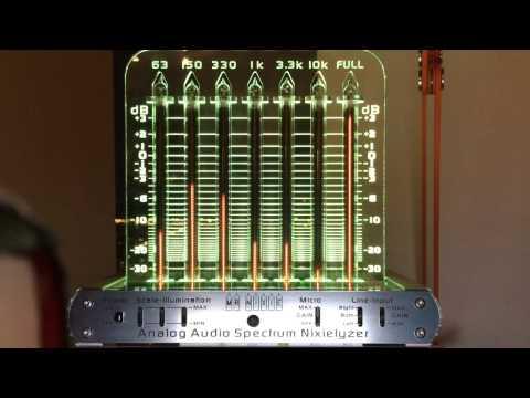Nixie tube audio spectrum analyzer demo