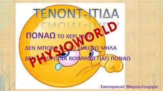 Τενοντίτιδα Τενοντοπάθεια Πόνος  Αντιμετώπιση