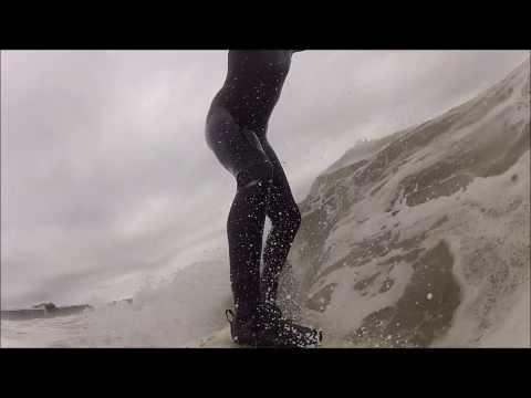 Surfing Tybee Island Water Temp. 44 F