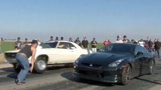 560hp GT-R vs MUSCLE - Cali Street Racing
