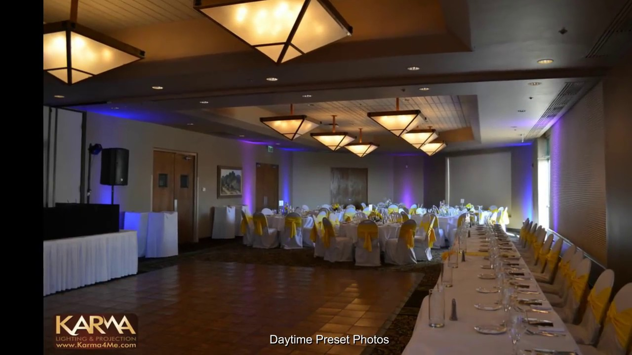 Blue Purple Uplighting Wedding Reception At Troon North Golf