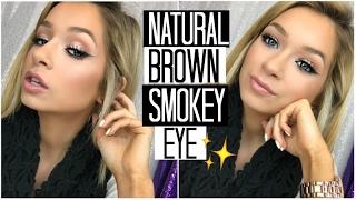 Natural Brown Smokey Eye Makeup Tutorial