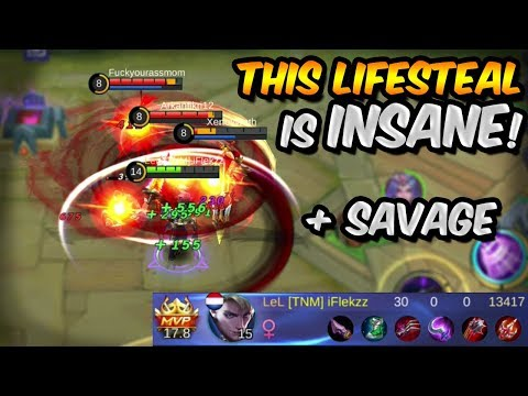 THIS ALUCARD LIFESTEAL BUILD IS OP?! 30-0 SAVAGE CARRY! - MOBILE LEGENDS