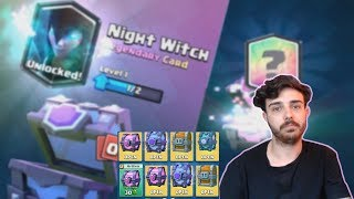 AM LUAT NIGHT WITCH ?!? Chest Opening !! Clash Royale Romania