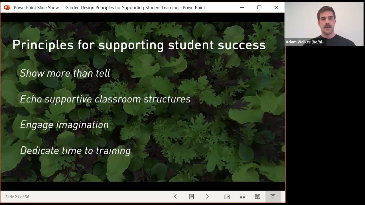 Garden Design Principles for Supporting Student Learning