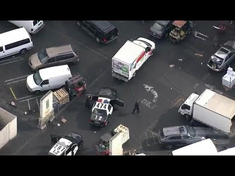 LAPD Police Chase of UHAUL, Shots Fired, Suspect Rams Police