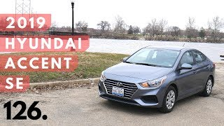 2019 Hyundai Accent SE // review, walk around, and test drive // 100 rental cars