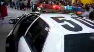 LA Pillow fight - then the cops came