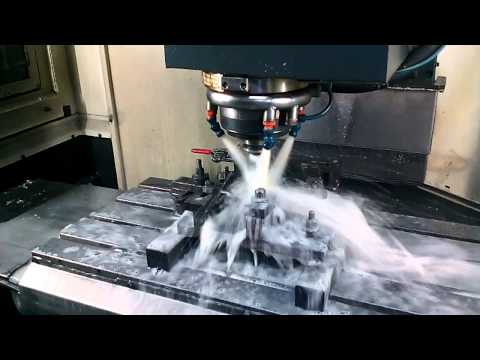 Drilling and milling operation using VMC Machine