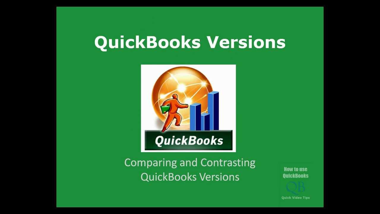 different quickbooks versions