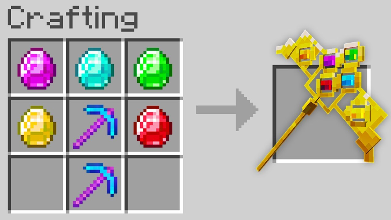 Download Minecraft, But You Can Craft An Infinity Pickaxe...