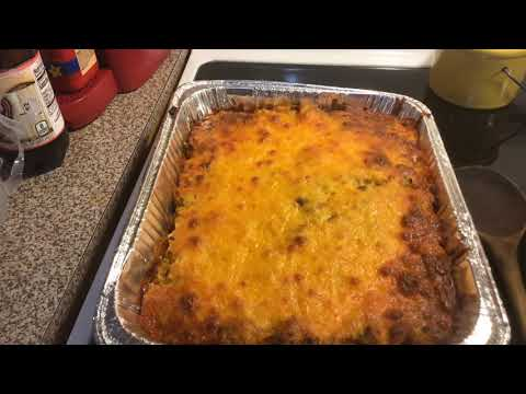 Johnny Marzetti Casserole Video 2(after they come out of the oven)