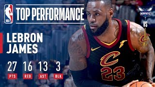 LeBron James Scores a Triple-Double in Win vs. Hornets | November 24, 2017