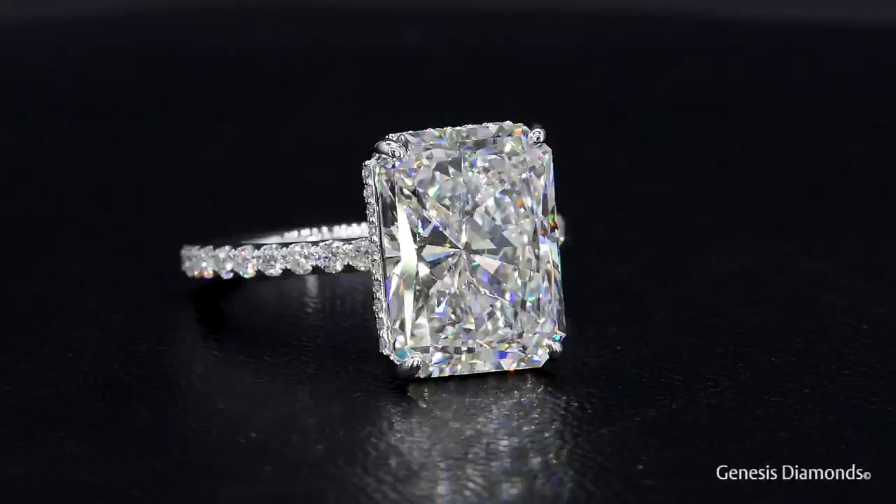 7 carat Radiant Cut Diamond Ring