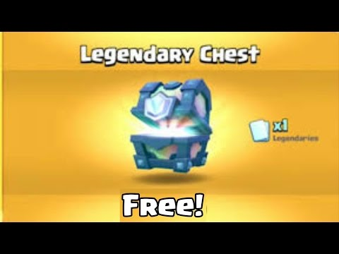 OMG! How to get a FREE legendary chest in Clash Royale!   Best working Method!!!