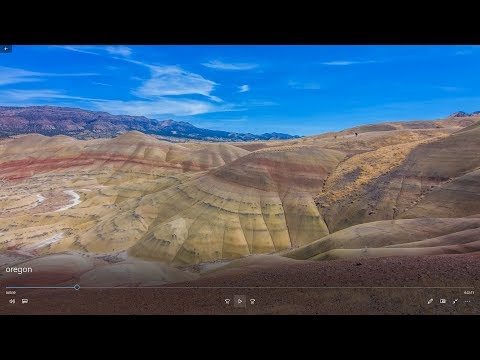 "♫♫♫ Magic 4K music similar to ""Enigma"" ♥ Part 1 ♥ Painted Hills, Oregon ♥ Ultra HD Video"