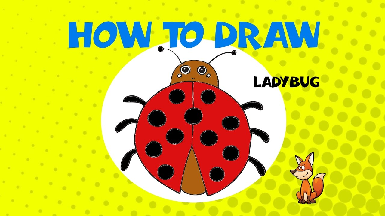 How to draw a ladybug - STEP BY STEP - DRAWING TUTORIAL ...