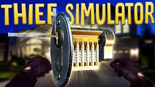 Advanced Door Lock Picking - Wealthy Home Robbery & Police Chase - Thief Simulator Gameplay
