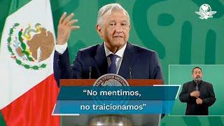 """Durante su conferencia matutina, el presidente Andrés Manuel López Obrador llamó a confiar en la investigación sobre el colapso en la línea 12 del Metro y dijo que no ha visitado el lugar del siniestro por que eso es """"hacer espectáculo"""""""