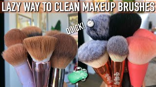 LAZY QUICK WAY TO CLEAN MAKEUP BRUSHES