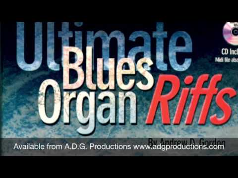 Blues riff 84 from the book Ultimate Blues Organ Riffs by Andrew D. Gordon