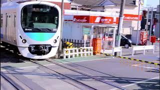 西武新宿線 上井草駅 上り急行列車通過