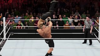 WWE 2K16 gameplay: Brock Lesnar vs. Seth Rollins