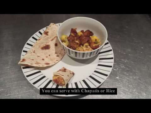 Aloo Gobi Recipe  A classic Indian vegetarian Dish vegan potato cauliflour
