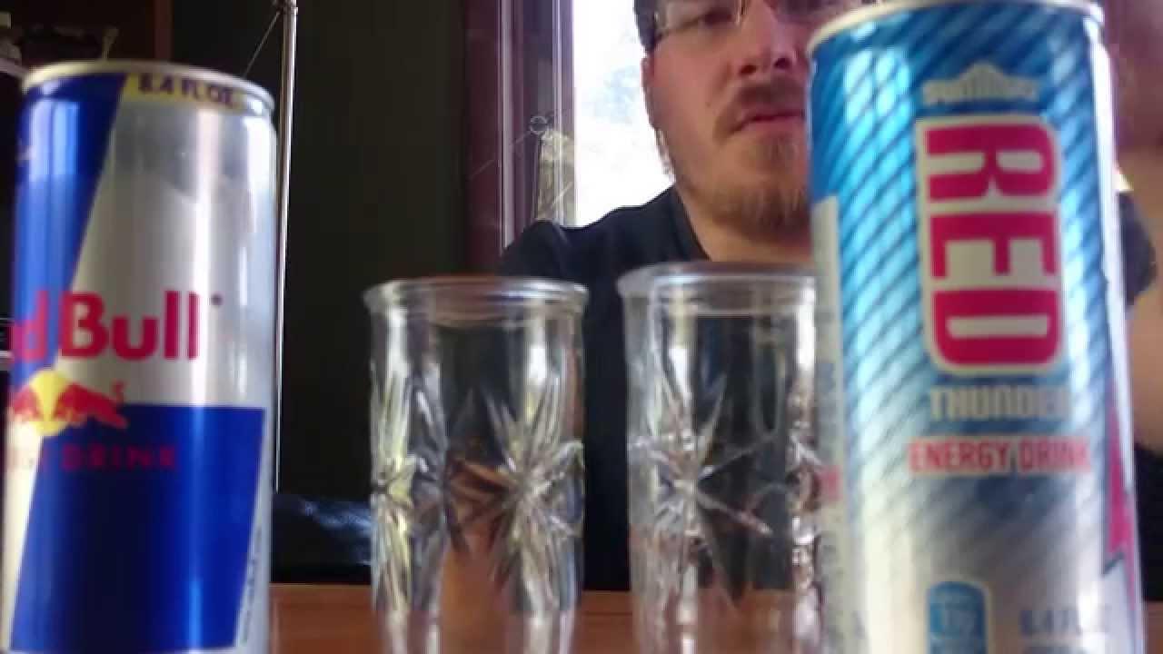 Red Thunder vs Red Bull Energy Drink Taste Test Review ...