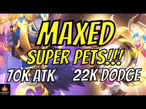 MAXED OUT Mutant Super Pets!  Radiant Hawk + Dire Wolfling