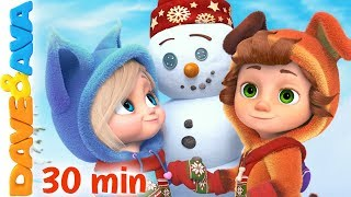 ⛄️ Winter Fun + More Nursery Rhymes and Kids Songs | Dave and Ava Christmas ⛄️