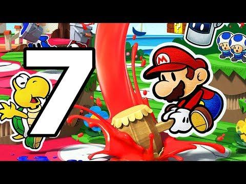 Paper Mario Color Splash Walkthrough Part 7 - No Commentary Playthrough (Wii U)