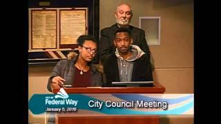 01/05/2016 - Federal Way City Council - Regular Meeting
