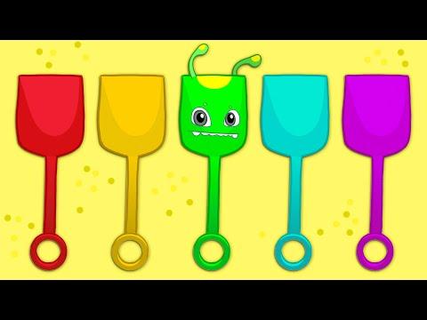 Aprende los colores con Groovy el Marciano y Phoebe   Dibujos animados educativos
