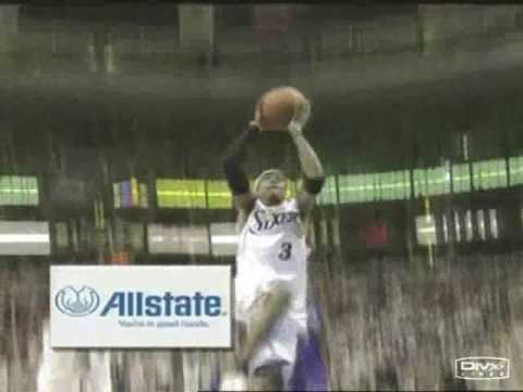 Allen Iverson 36pts 9asts vs Kobe Bryant Lakers 04/05 NBA