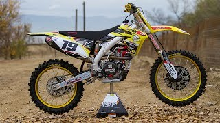 David Pingree talks about our garage build on the 2017 RMZ450 build...