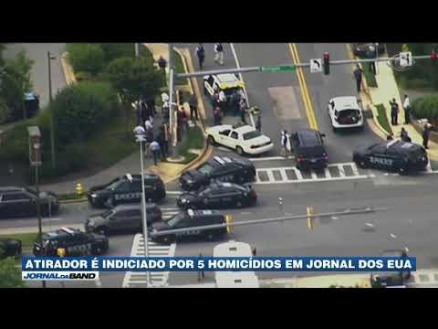 Atirador é Indiciado Por Cinco Homicídios Nos EUA