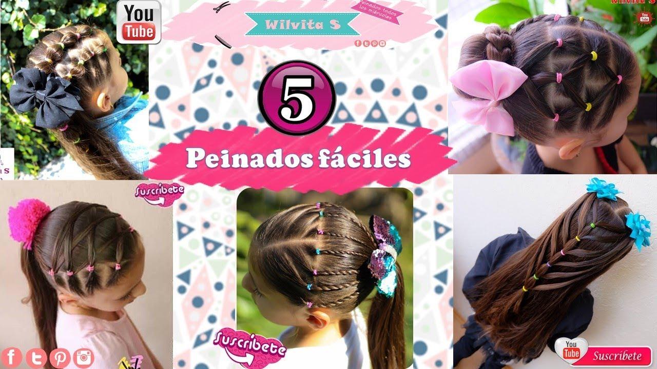 5 Peinados Faciles Para Nina Paso A Paso 5 Peinados Para La Escuela Wilvita