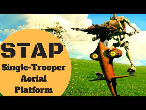 COMPLETE BREAKDOWN - STAP Single-Trooper Aerial Platfrom Lore - Star Wars Canon & Legends Explained