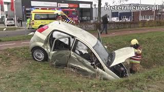 Gewonde na aanrijding tussen Vrachtwagentje en auto in Hardenberg