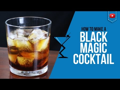 Black Magic Cocktail - How to make Black Magic Cocktail Recipe for Halloween
