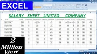 Salary Sheet  Limited Company For Microsoft excel Advance Formula