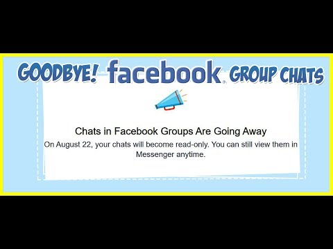 Chats In Facebook Groups Are Going Away On August 22