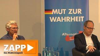 ARD und ZDF zu Gast bei der AfD | ZAPP | NDR