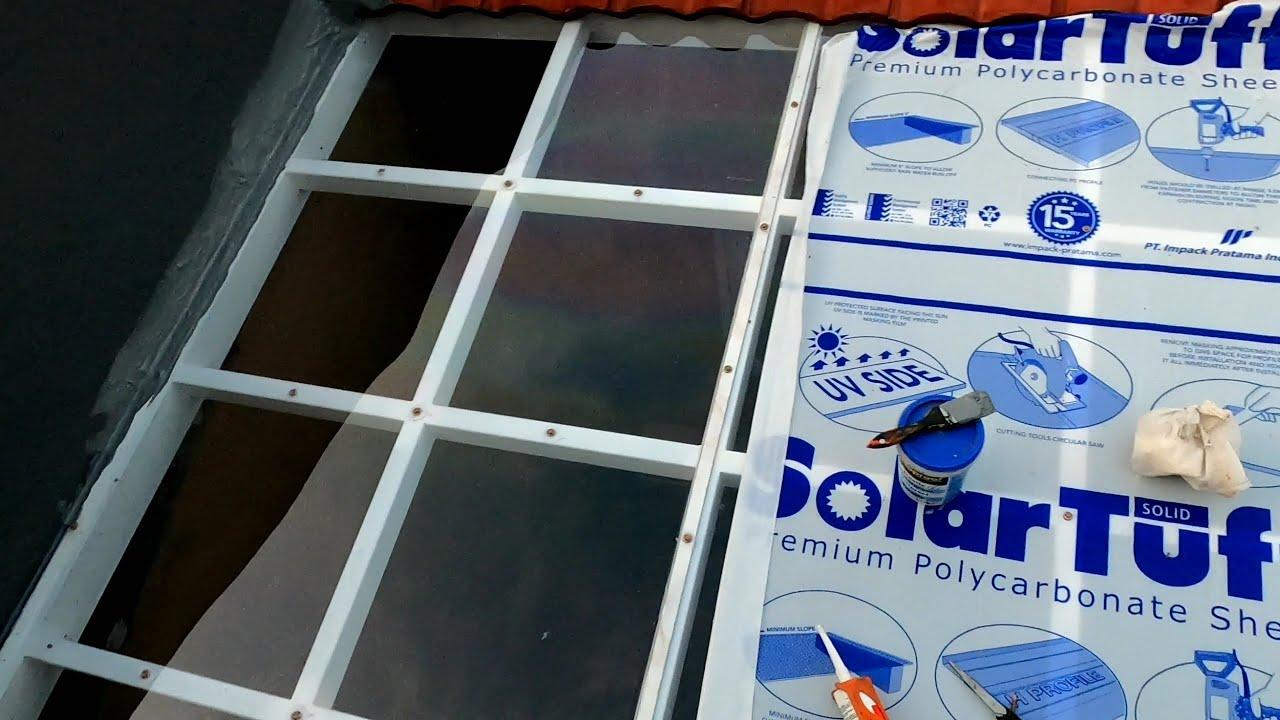 Download kanopi transparan tanpa kaca lebih ringan dan aman..kanopi minimalis atap solar flat