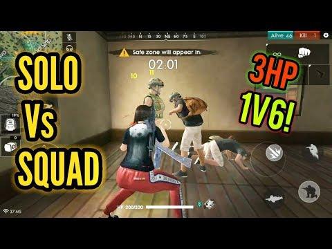 4HP INSANE CLUTCH! (Solo Vs Squad) - Free Fire Battlegrounds