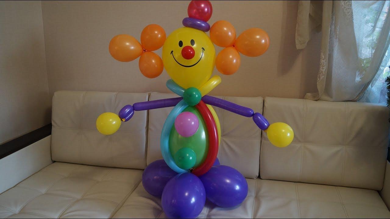 Как сделать клоуна из воздушных шаров